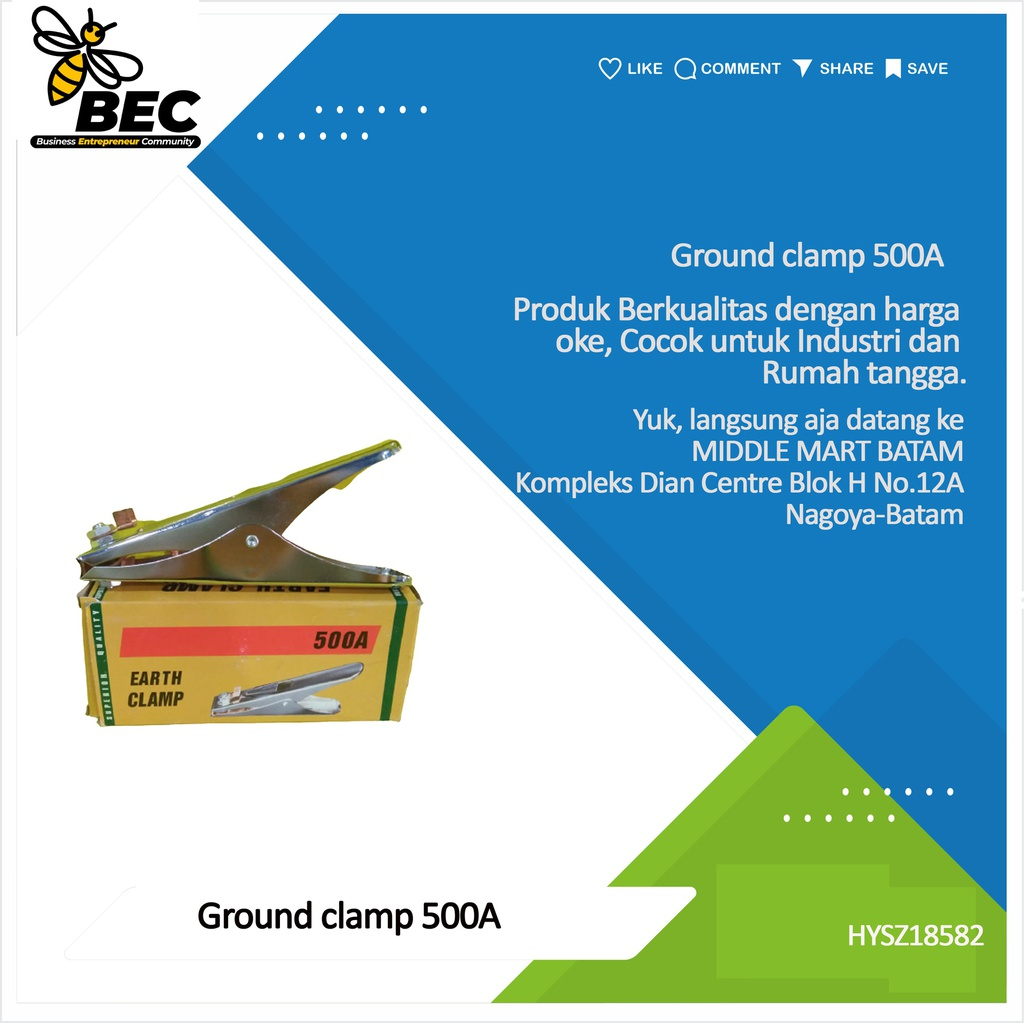 Ground clamp 500A