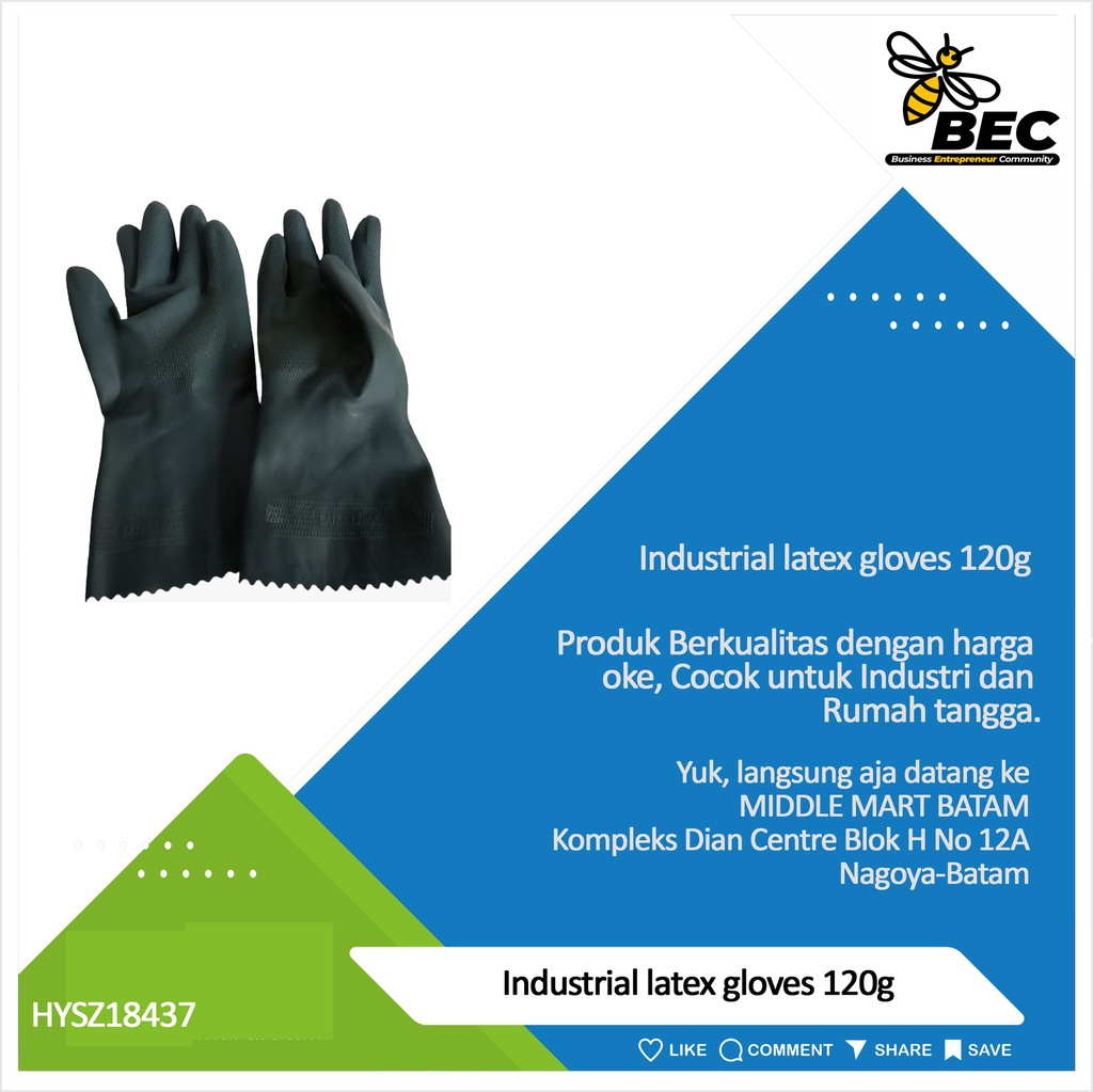 Industrial latex gloves  120g