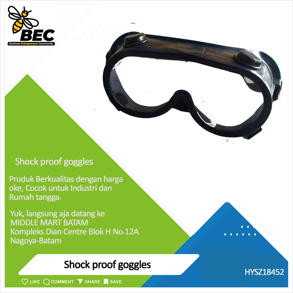Shock proof goggles