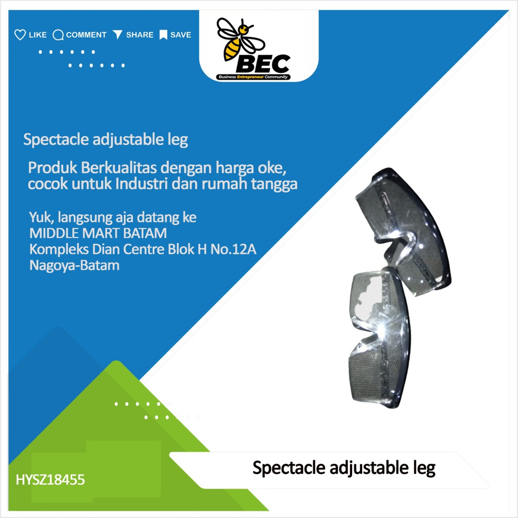 Spectacle adjustable leg