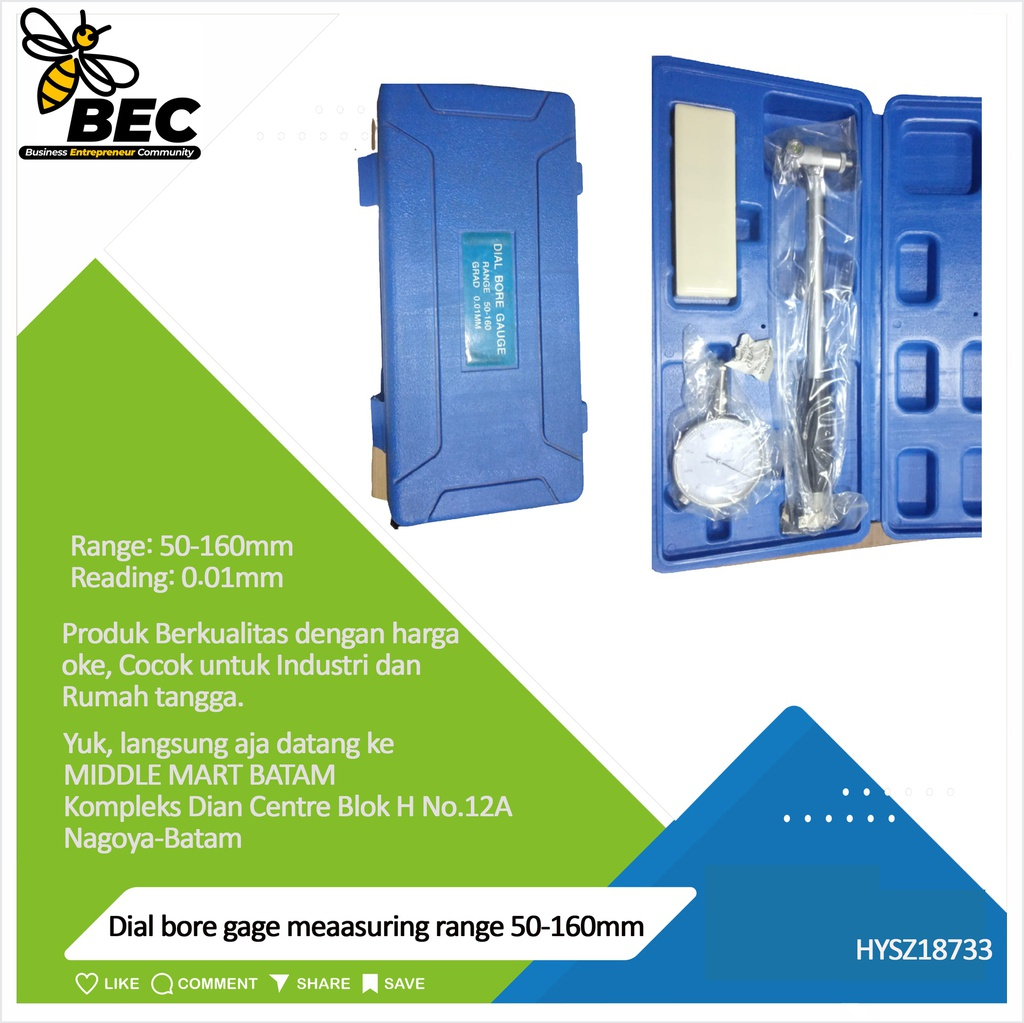 Dial bore gage  Measuring range: 50-160mm Reading:0.01mm