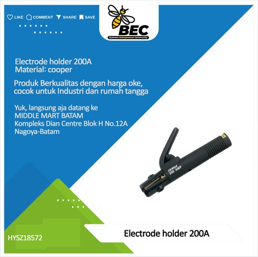 [HYSZ18572] electrode holder 200A material:copper