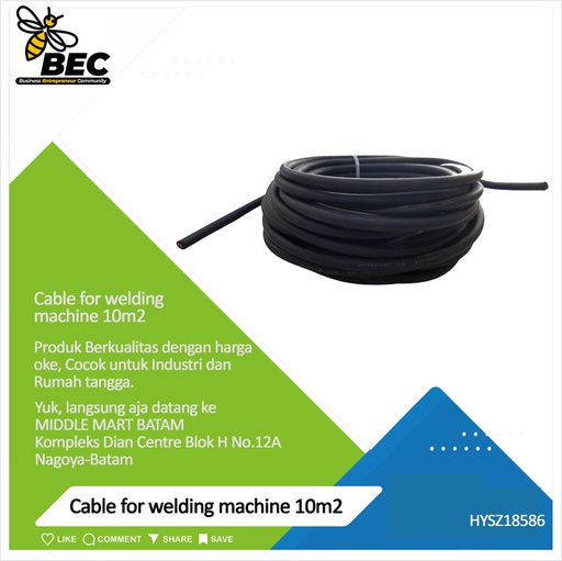 [HYSZ18586] cable for welding machine 10m2