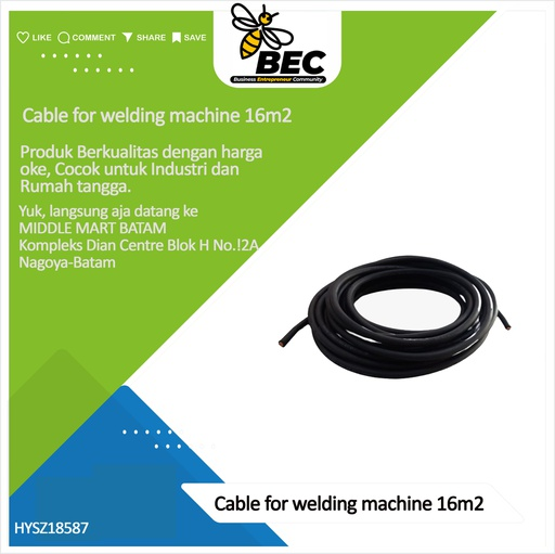 [HYSZ18587] cable for welding machine 16m2